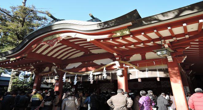 久伊豆神社(越谷)初詣の風景