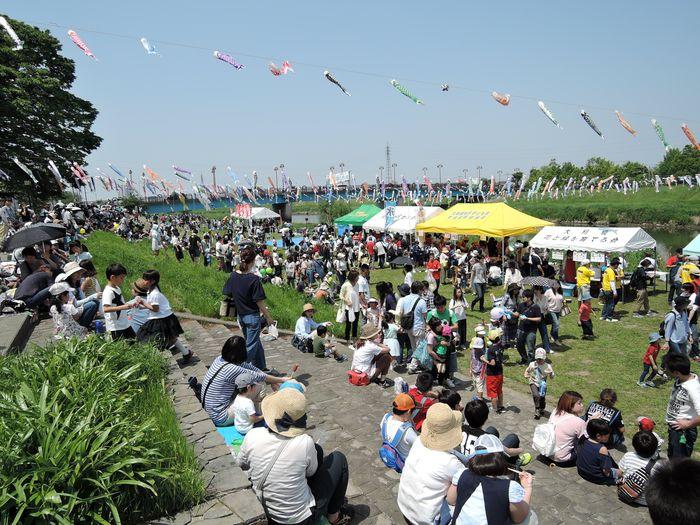 越谷市のイベント|不動橋こいのぼりフェスティバル